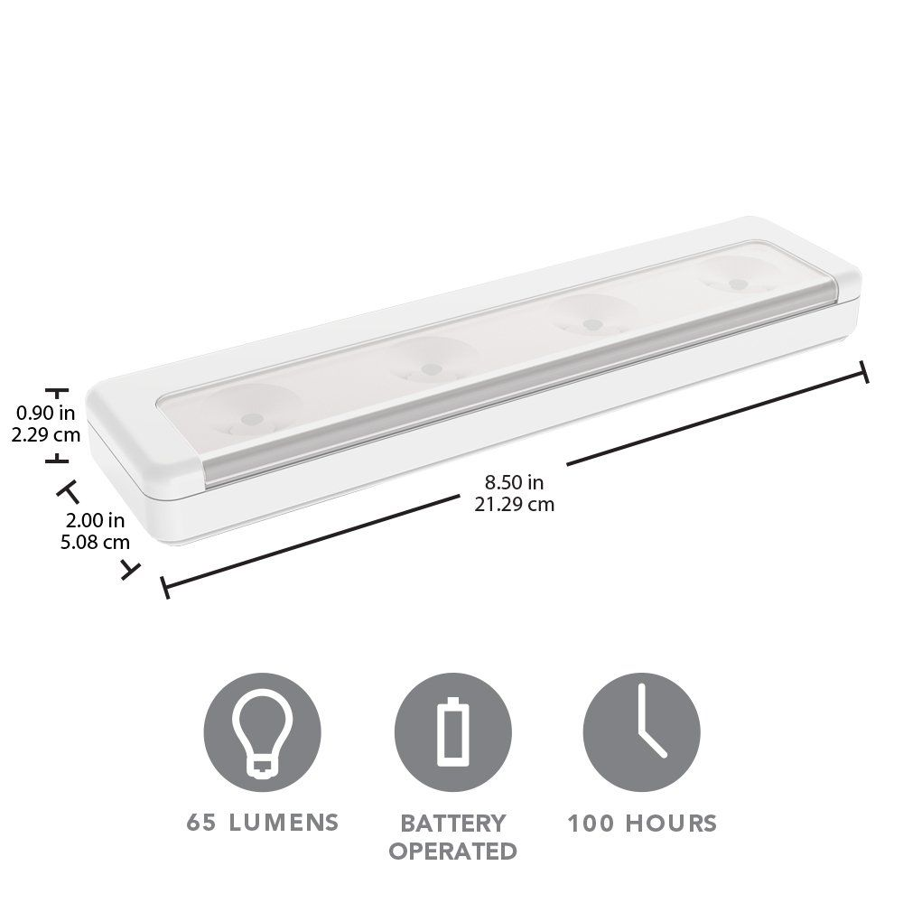 Brilliant Evolution Brrc116 Wireless Ultra Thin Led Light Bar Operates On 3 Aa B Under Cabinet Lighting Battery Operated Lights Kitchen Under Cabinet Lighting