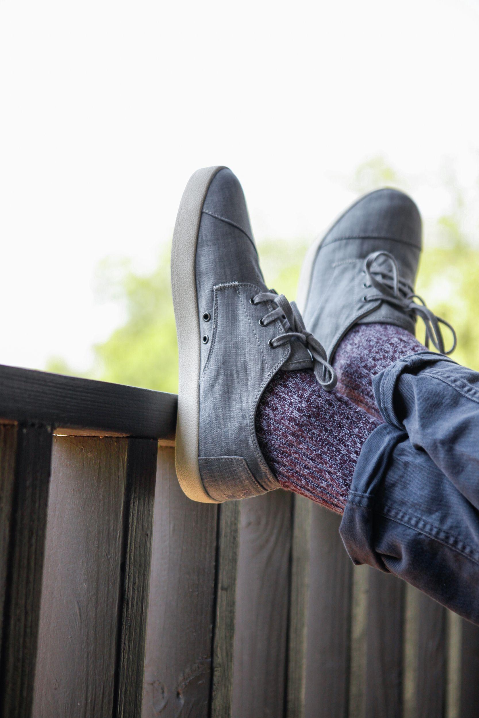 Grey Denim Men's Paseo Sneakers