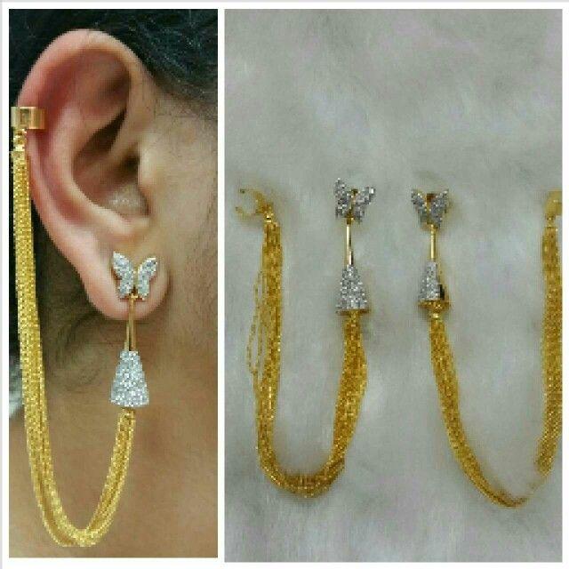 American diamond ear cuffs