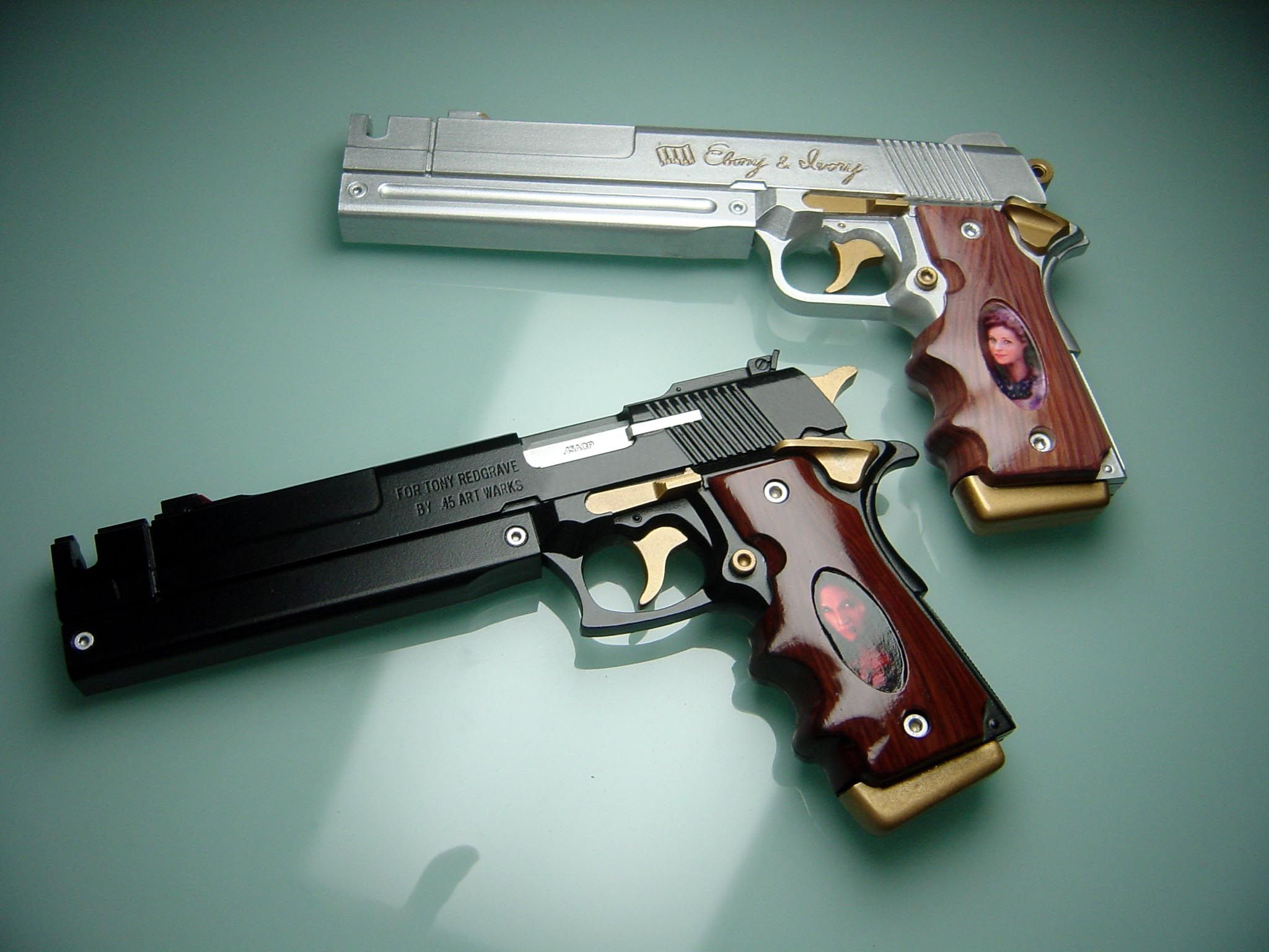 Devil may cry ebony and ivory airsoft guns