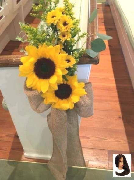 New Wedding Church Decorations Sunflower 46+ Ideas - Home Decor -   12 wedding Church fall ideas