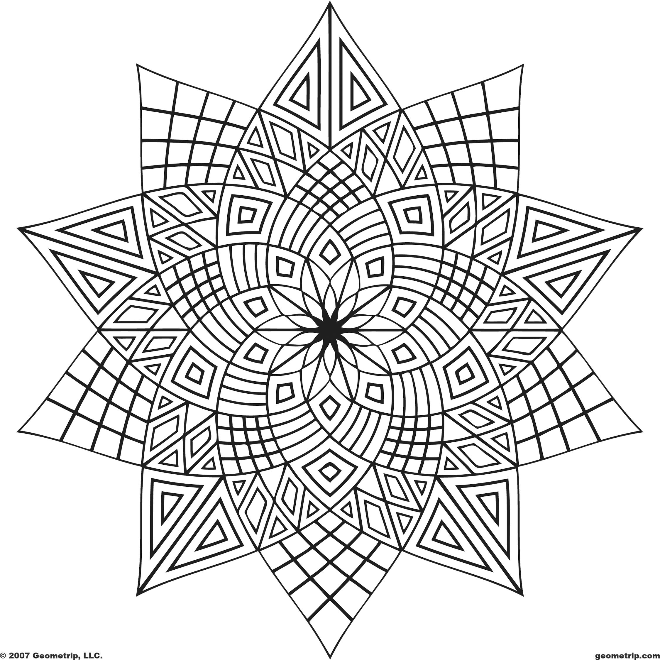 adult free designs too color geometripcom free geometric coloring designs shapes