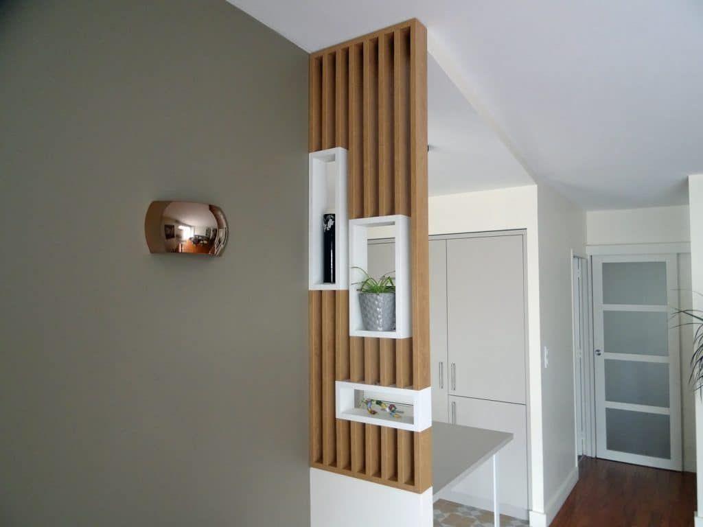 Claustra Intérieur En Bois claustra-bois-separateur-cuisine-salon-soa - soa