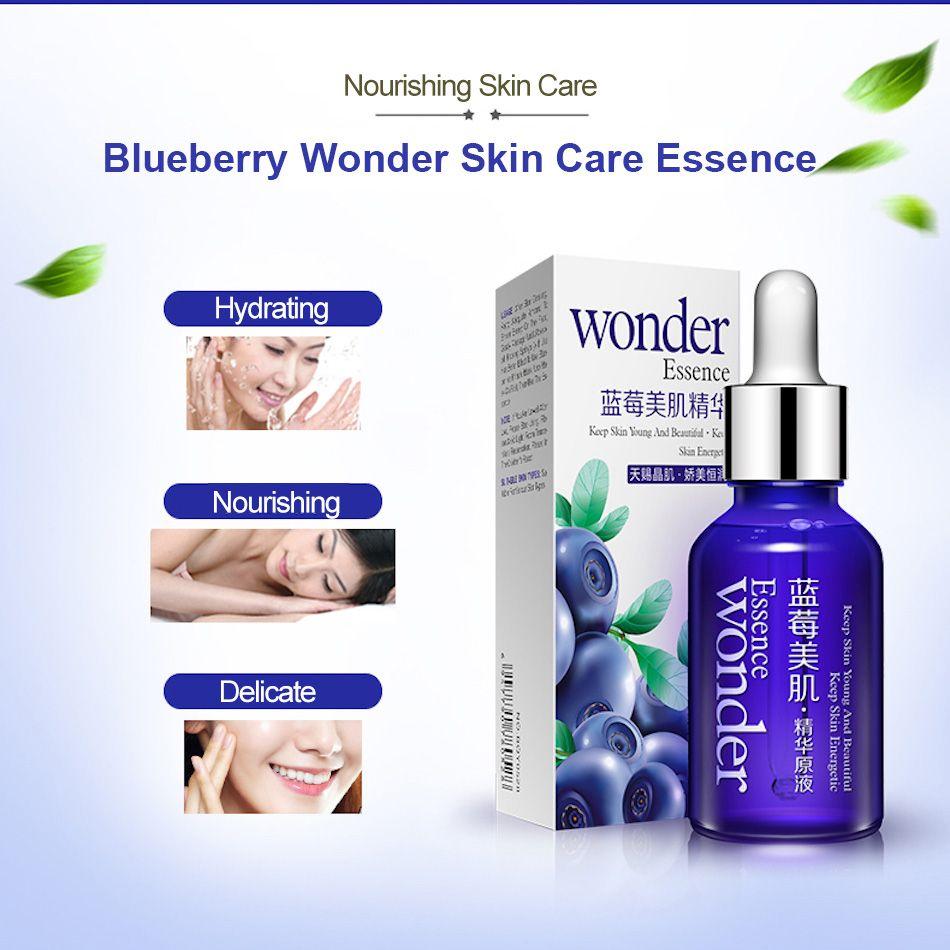 Bioaqua Blueberry Wonder Essence For Face Skin Care Effect Plant