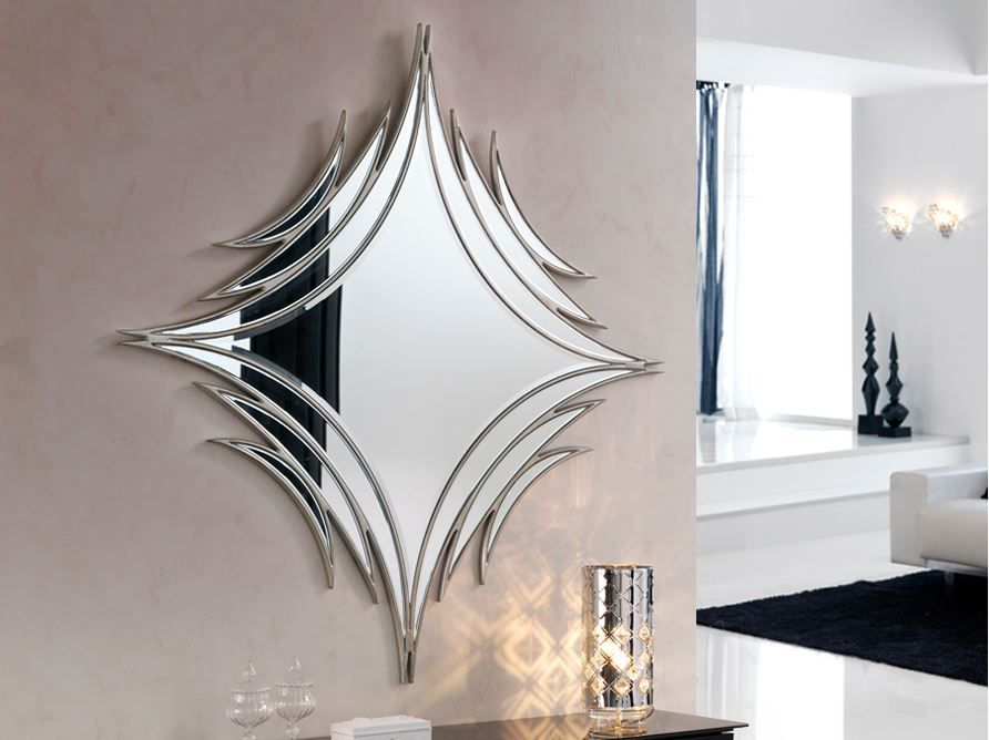 Espejo de cristal espejos modernos espejos baratos espejos for Espejos decorativos para pasillos