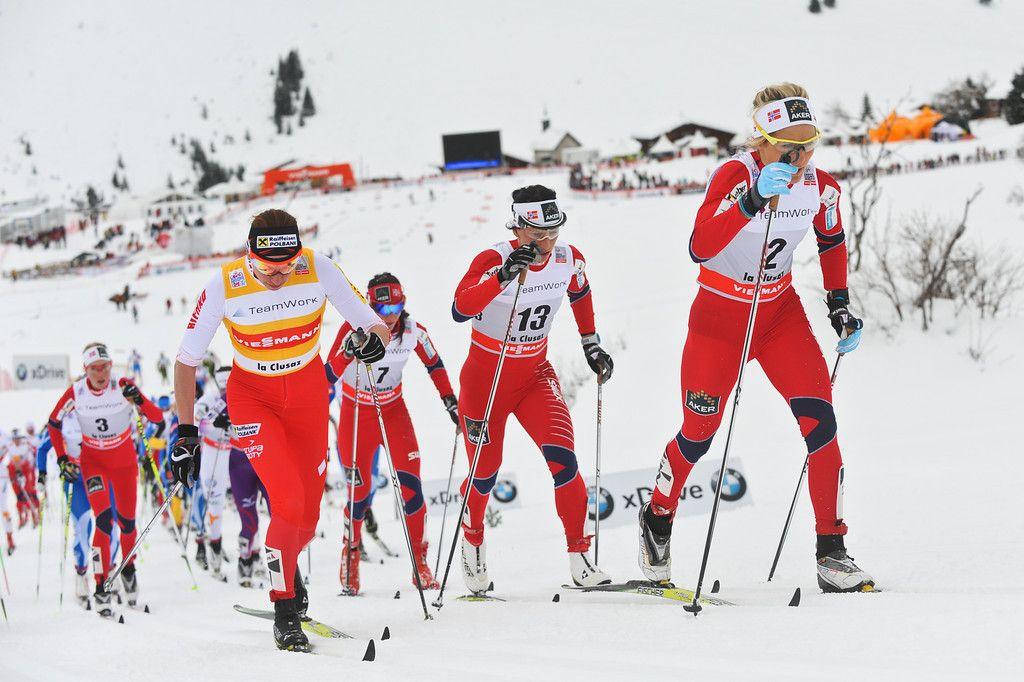 Crosscountry skiing Johaug Kowalczyk Bjoergen La clusaz