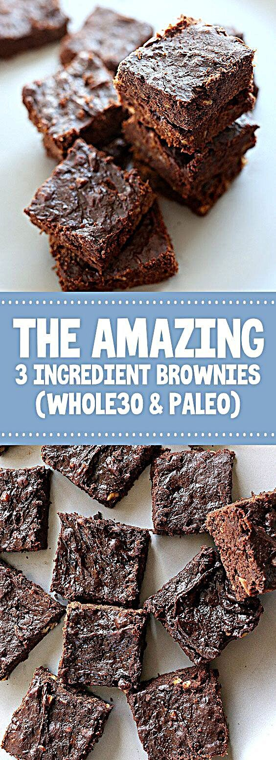 ★★★★★ 86 reviews: The Amazing 3 Ingredient Brownies (Whole30 & Paleo) | These 3 ★★★