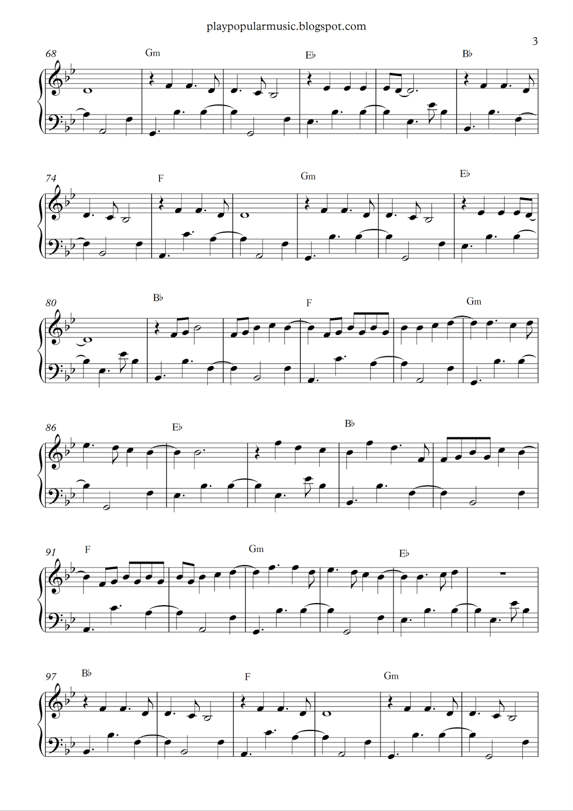 Free piano sheet music: Say You Wont Let Go-James Arthur.pdf I\'ll ...
