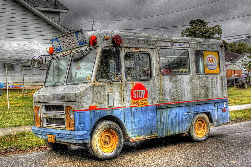 Image result for creepy ice cream truck painting