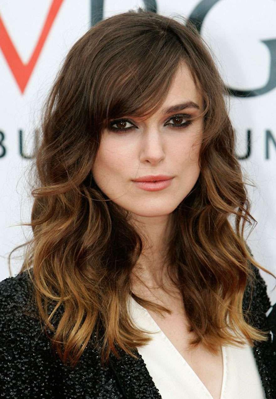 keira knightley long wavy haircuts for square faces, womens long