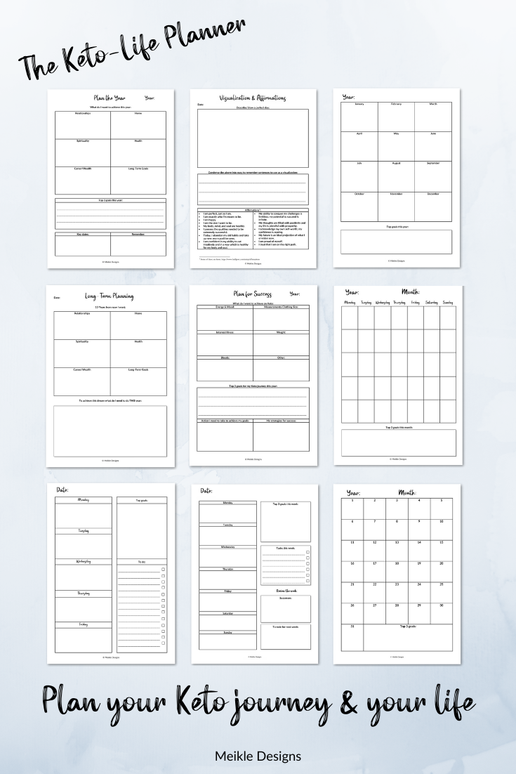 Photo of Printable Keto Planner