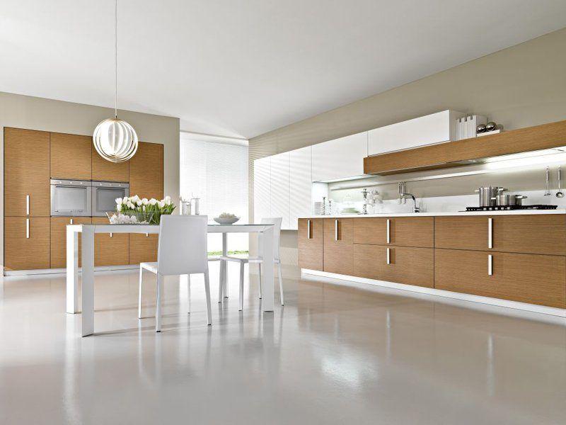 Estilo de cocinas modernas con tope de madera   buscar con google ...