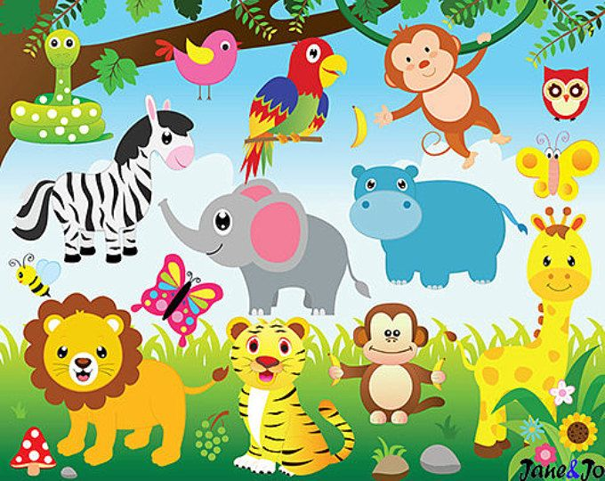 Animal Border Animal Clipart Hand Painted Cartoon Animals Element Png Transparent Clipart Image And Psd File For Free Download Jungle Theme Birthday Jungle Theme Birthday Party Jungle Invitations