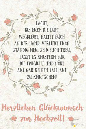 #Hochzeit #Glückwünsche #Grußkarte # Sprüche Diesen Und Weitere Süße  Glückwünsche Zum Ausdrucken Oder