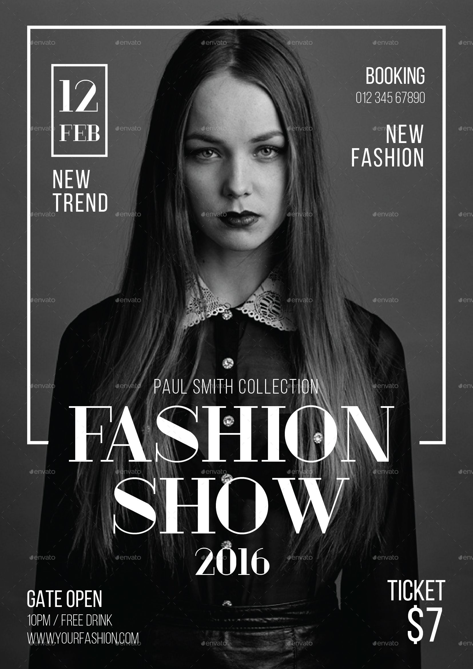 Fashion Show Flyer | Graphics, Graphic posters and Poster