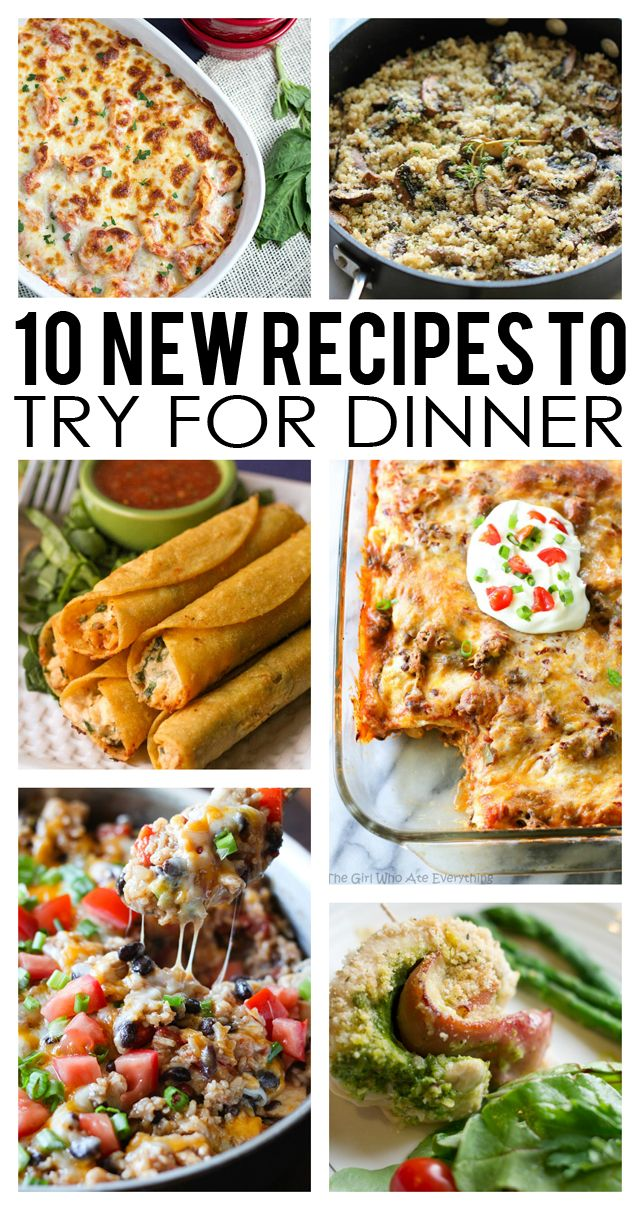 10 New Recipes to Try!