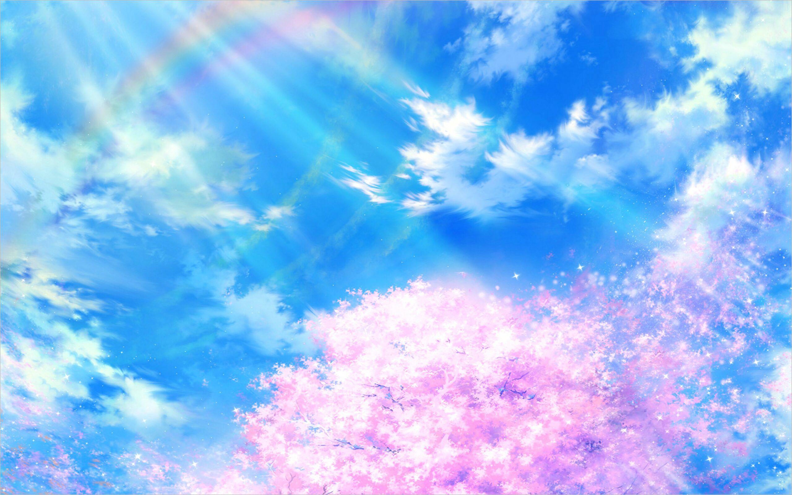 Anime Sky Wallpaper 4k Wallpaper Background Images Sky