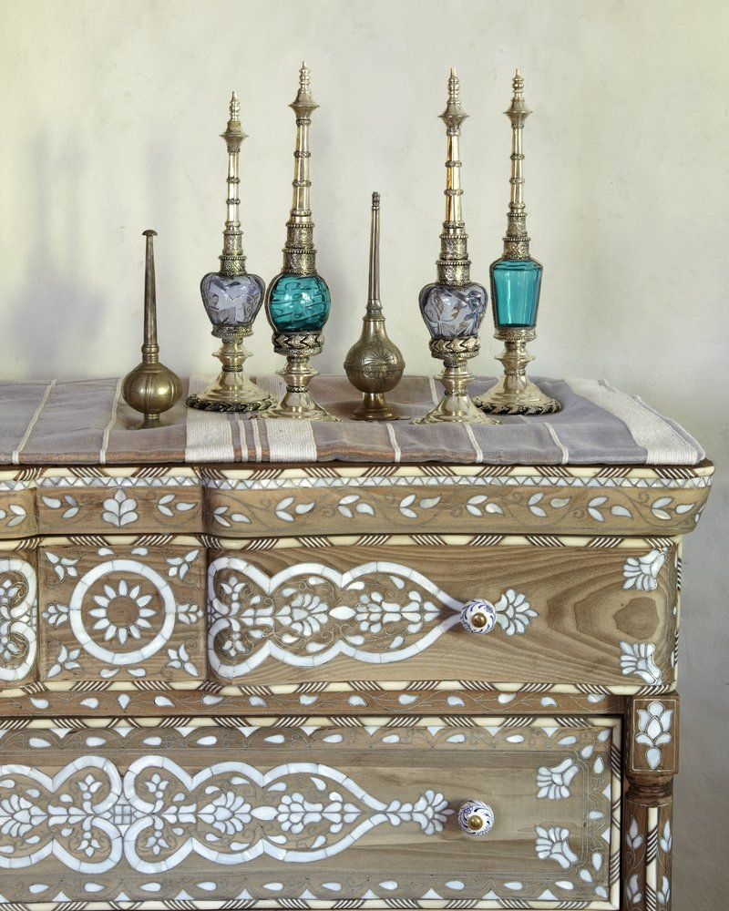 Moroccan Decor For A Modern Home Cabinet Moroccan Oriental Perfume Bottles Olfactory