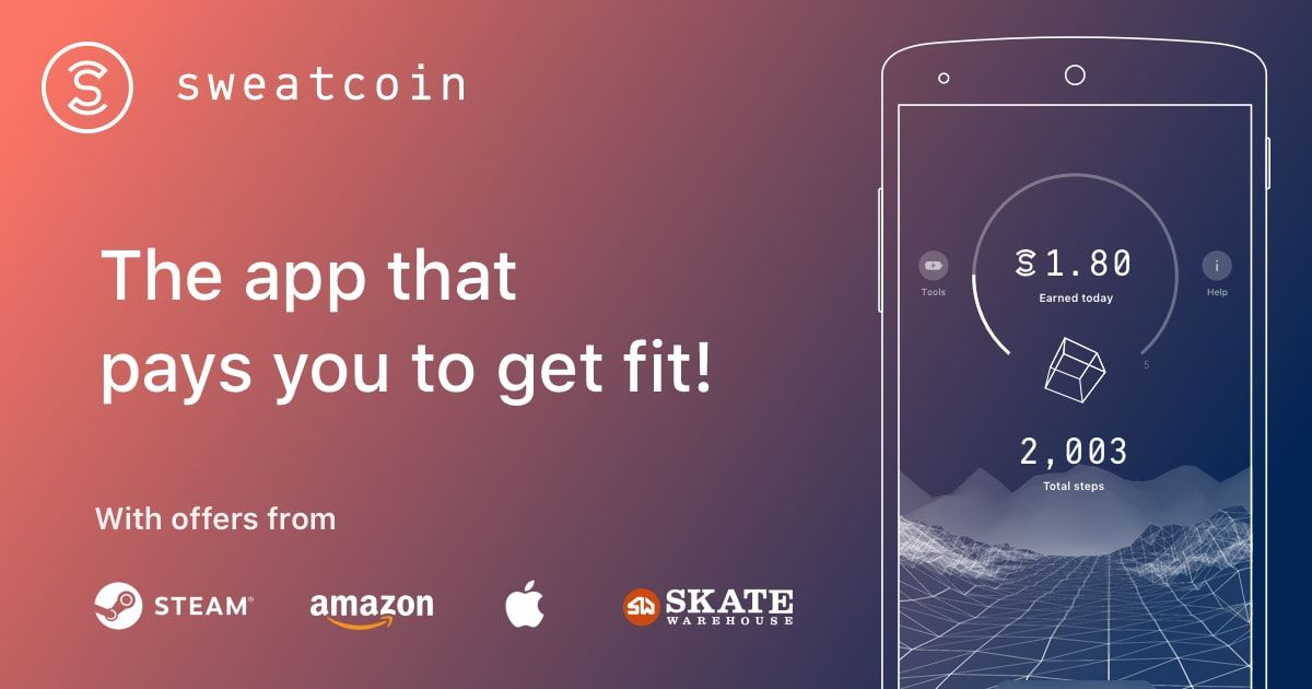 the app that pays you to get fit sweatcoin rewards you for the