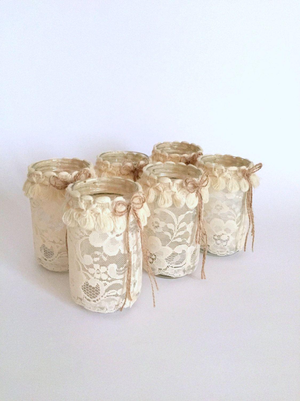 Wedding Centerpiece Mason Jar Light, Mason Jar Candle, Mason Jar ...