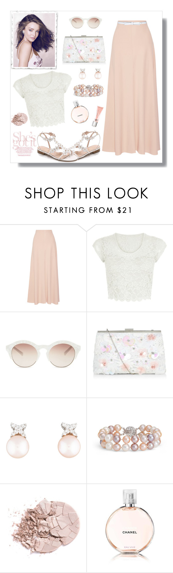 """""""Untitled #948"""" by gallant81 ❤ liked on Polyvore featuring The Row, Oscar de la Renta, New Look, self-portrait, Blue Nile, Chanel, Beauty Rush, Kerr® and Kate Spade"""