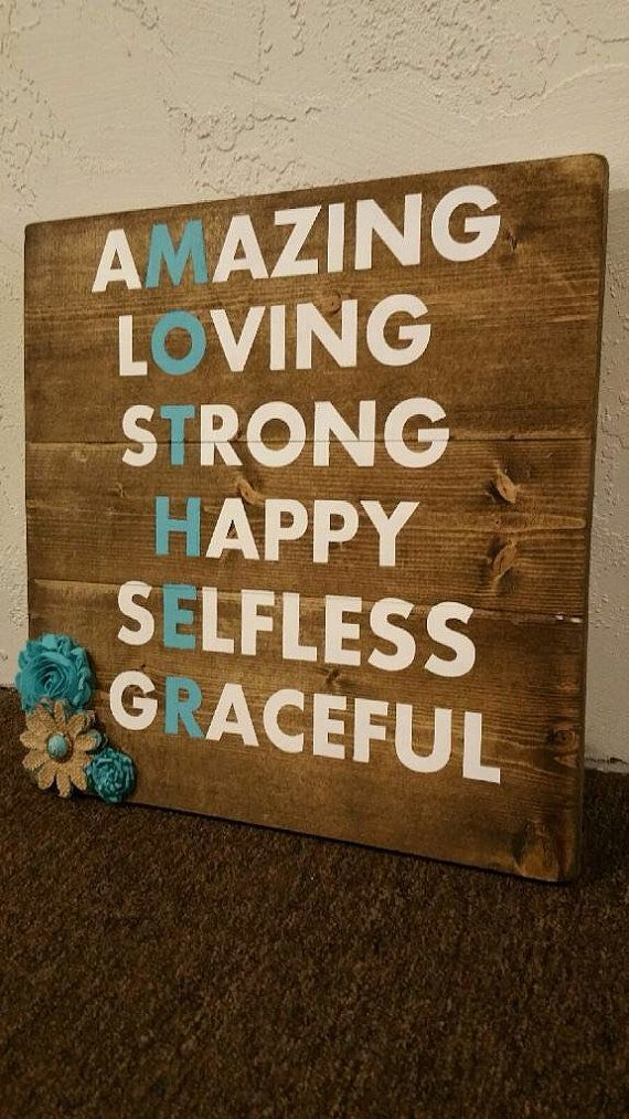 Mother's Day Wood Sign/ Mom Rustic Wood Sign/ Mother's Day