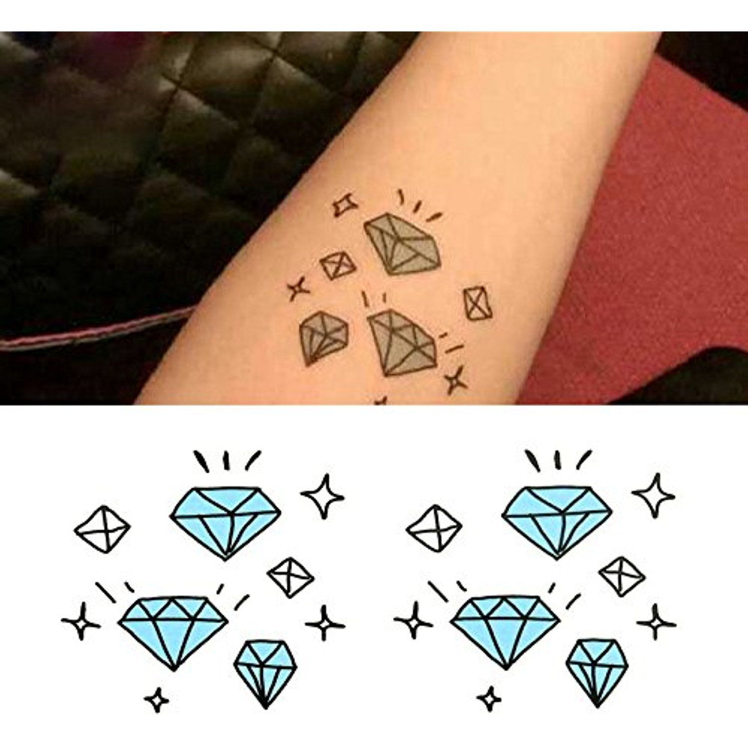 2834dd889 Oottati Small Cute Temporary Tattoo Diamond Arm (Set of 2) *** Check out  the image by visiting the link. (This is an affiliate link) #Makeup