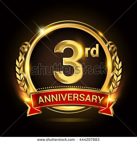 3rd golden anniversary logo 3 years anniversary celebration with