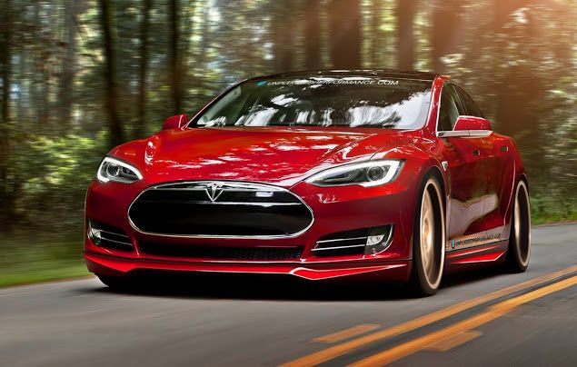 Tesla Model S Gains Aftermarket Bumper Skirts And Spoilers Carscoops Tesla Model S Tesla Model Tesla Car