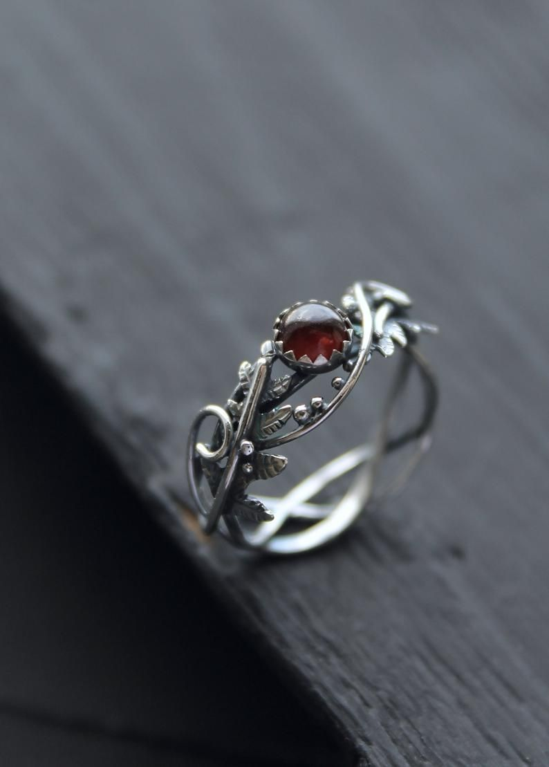 Band Rings Leaves Ring Handmade Pearl Ring in Sterling Silver Handmade Rings Flower Ring Pearl Jewelry Leaf Ring Nature Ring