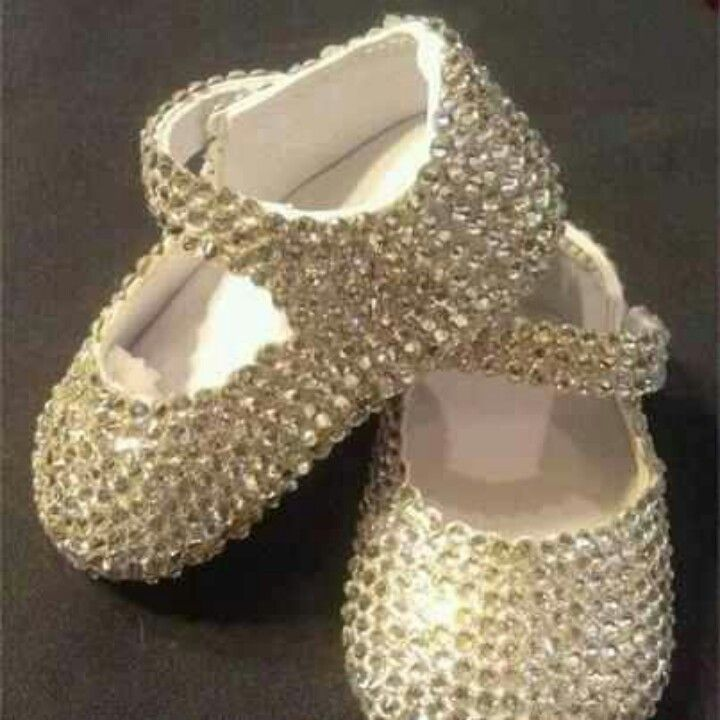 Bedazzled baby shoes