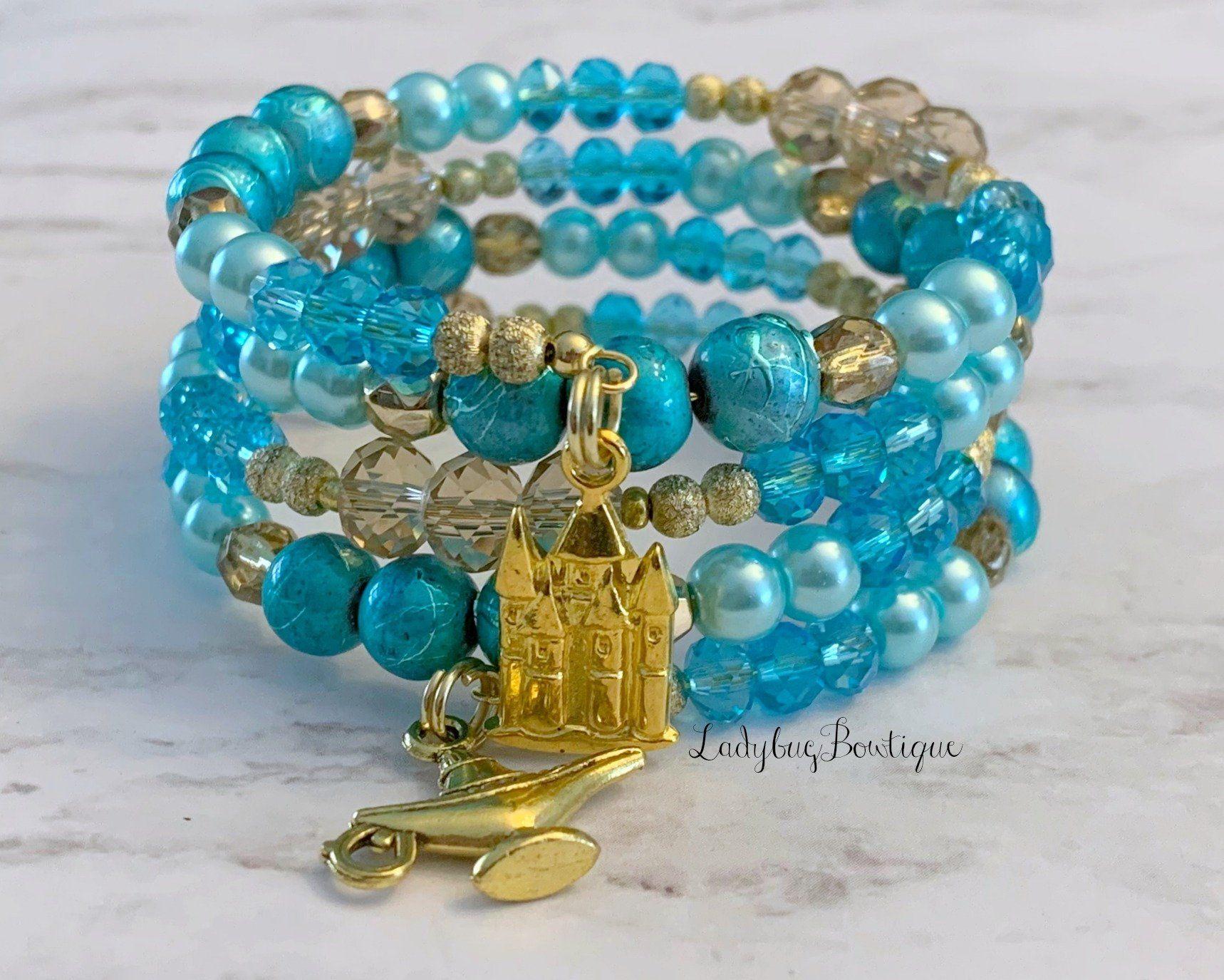 Jasmine Infinity Wrap Bracelet Memory Wire Disney Princess