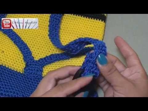 PASO 1 DE 6:  MOCHILA INFANTIL TEJIDA  A CROCHET (COMO HACER LAS MANOS) - YouTube