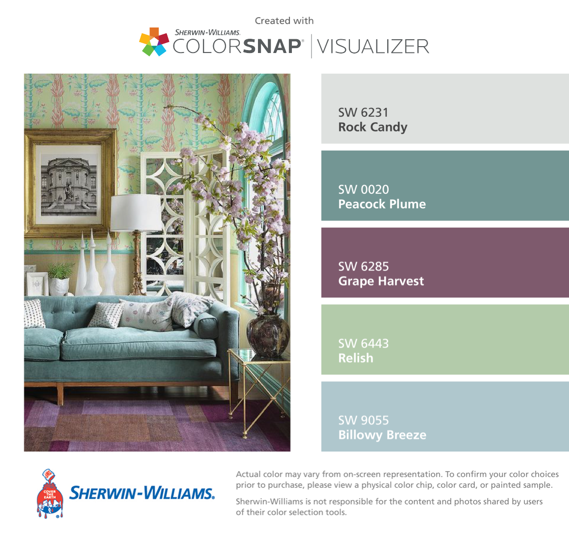 I found these colors with colorsnap visualizer for iphone by sherwin williams rock candy sw for Sherwin williams exterior paint color visualizer