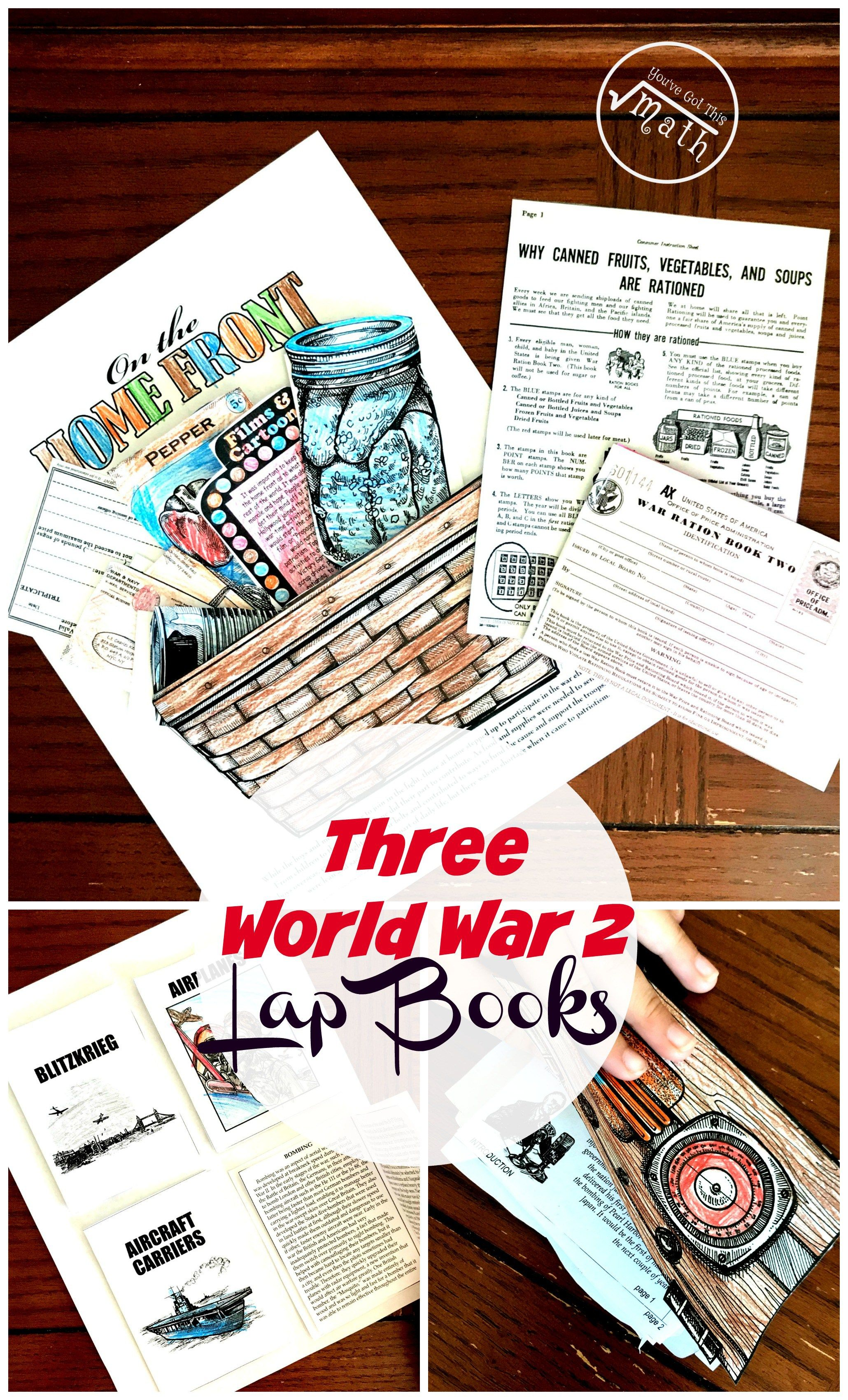 3 Interesting World War 2 Lap Books For Upper Elementary