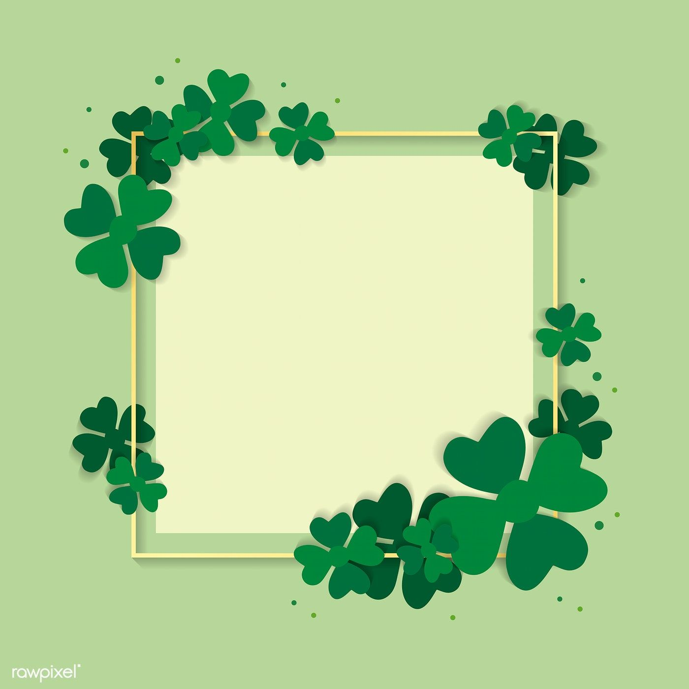 St Patrick S Day Blank Square Banner Vector Free Image By Rawpixel Com Ningzk V Flower Background Wallpaper Vector Free Frame Card