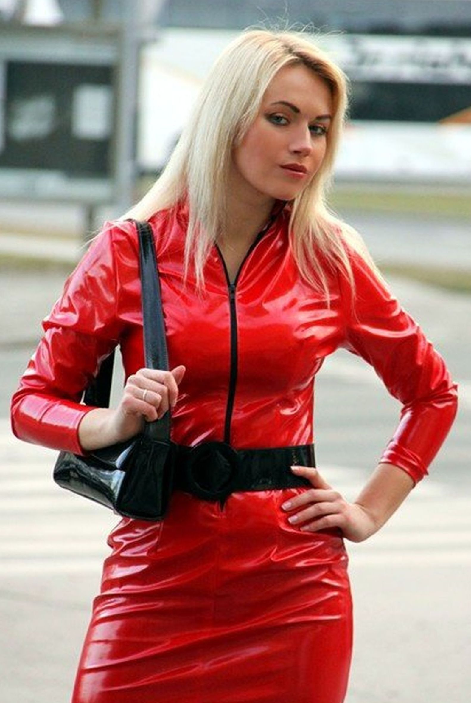 Lack Kleidung Shiny Red Pvc Dress Gt Gt Gt Gt Gt Pvc4fun