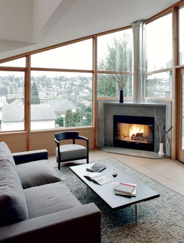 22 Ultra Modern Corner Fireplace Design Ideas Corner Fireplace Living Room Fireplace Design Modern Family Rooms