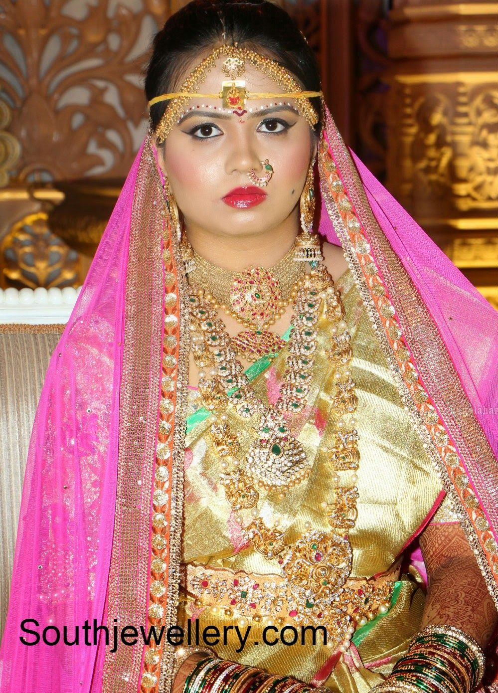 south indian bridal jewellery Beautiful wedding jewelry