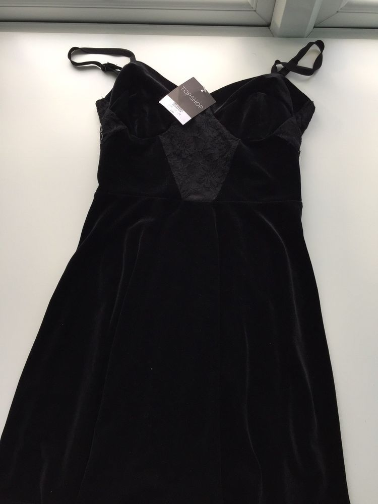 9ad3d2e0ea3e Topshop Black Velvet Skater Dress Size 12  fashion  clothing  shoes   accessories  womensclothing  dresses (ebay link)