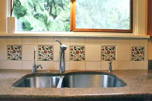 Charmant Spanish Backsplash Kitchen | Kitchen Backsplash Tile   Colorful Trees,  Peacocks, Birds And Flowers