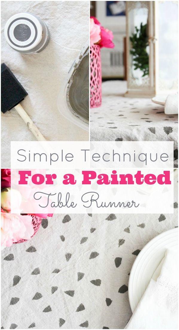 Geometic Table Runner Using Chalk Paint Diy Tutorial Cute Idea Painted