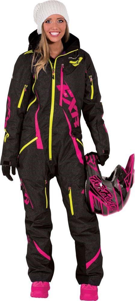 00fcf7eae46ca FXR Racing Maverick Womens Snowmobile Monosuits - Black More
