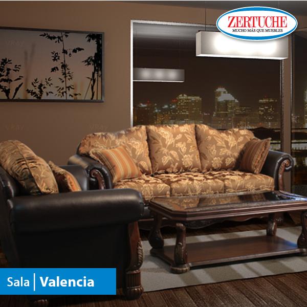Sala valencia estilo cl sico en jackard combinado en - Sofas clasicos ...