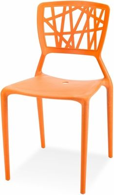 Miraculous Phoenix Outdoor Stackable Armless Side Chair Orange Frcc Home Interior And Landscaping Ologienasavecom