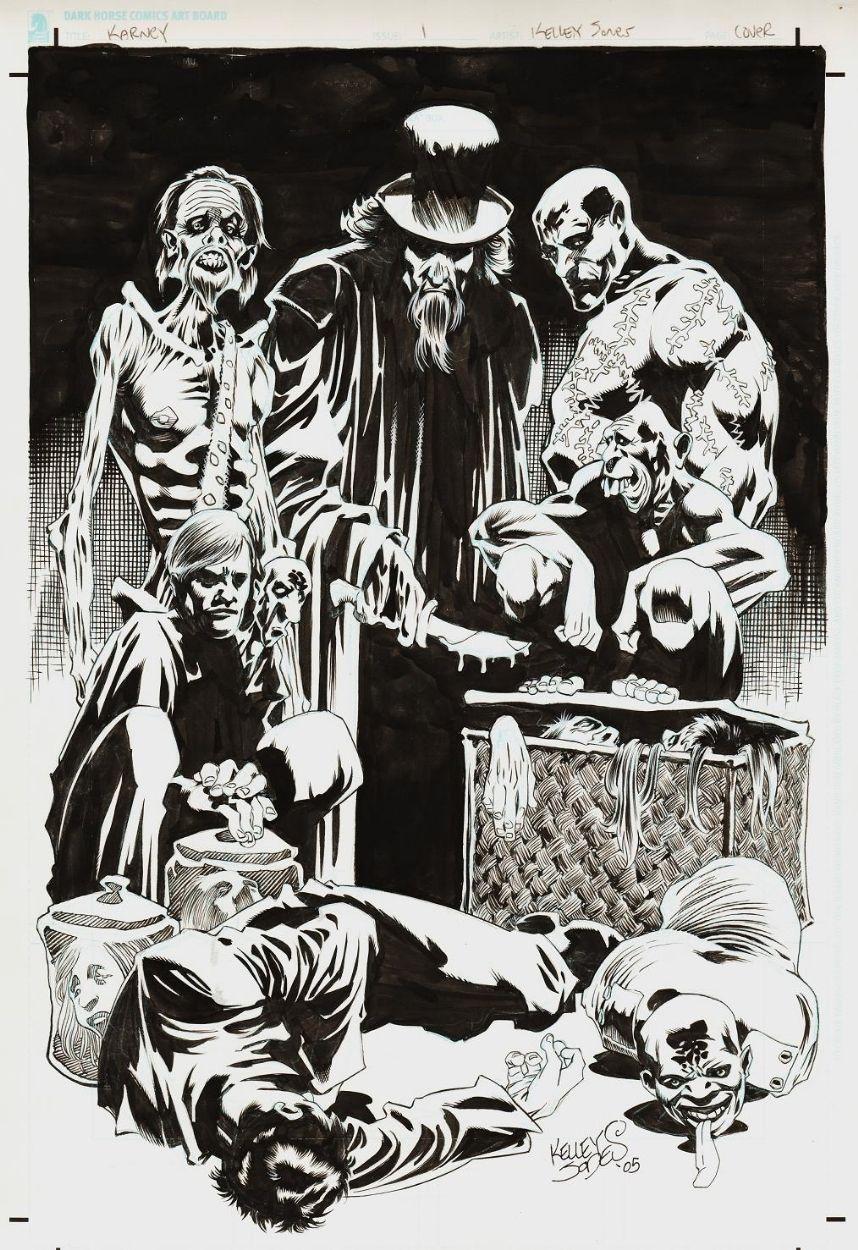 Karney By Kelley Jones  Comic Illustration, Comic Artist -3248