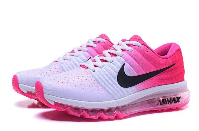 new style b0330 95695 Most popular NIKE Air max 2017 white black Women s running shoes 849559 600
