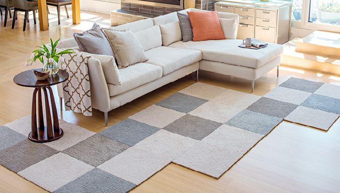 Make a Custom Rug with Carpet Squares