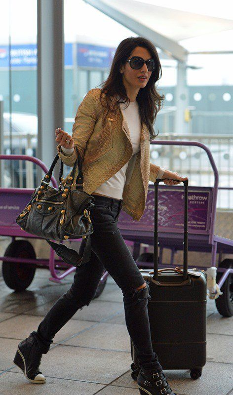 Amal Clooney airport style | Oh, to be a stylist | Amal clooney