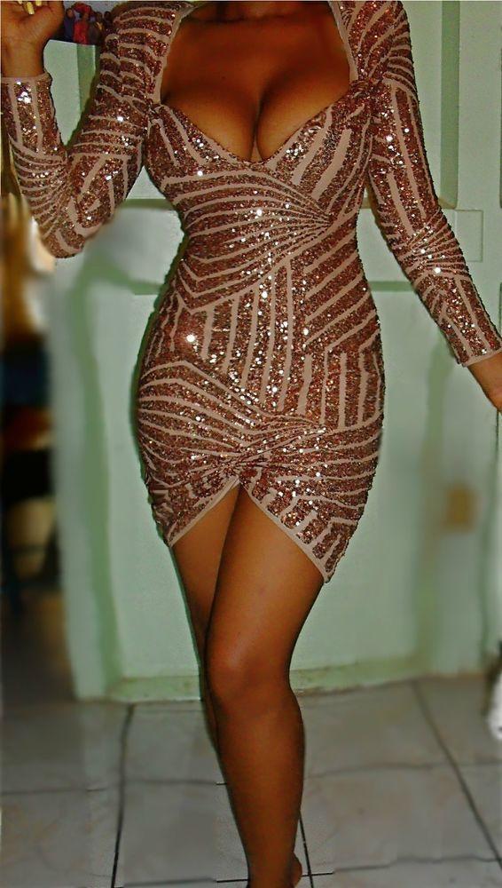 Bcbg Max Azria Morris Unique Rose Gold Forever Sequin Bandage Dress Jovani Asos